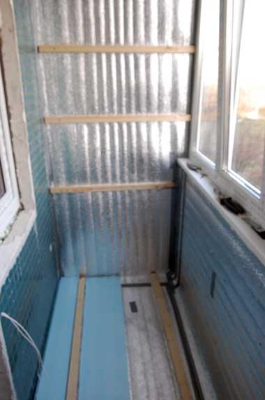 Перед тем, как утеплить пол на балконе, нужно прочесть несколько...  Вот такова схема утепления балкона или лоджии.